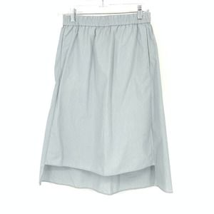 COS EUR 34 US XS Notched Front Pull On Skirt Blue